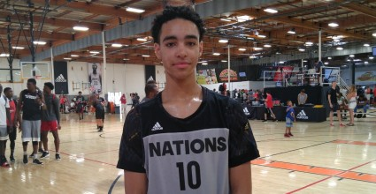 Andrew Nembhard shines at the adidas Nations as he displays elite play making skills and a calm presence.