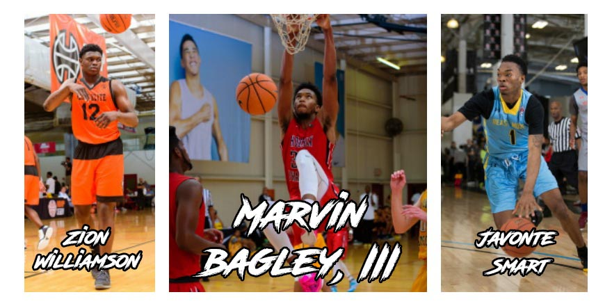 Marvin Bagley, Zion Williamson, and Javonte Smart lead the way in the newly updated 2018 HoopSeen Top-100 Rankings.