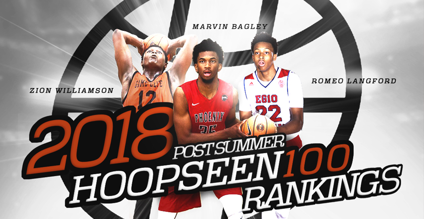 Marvin Bagley III cements his case as the top prospect in the 2018 class as we release the HoopSeen Top-100 Rankings.
