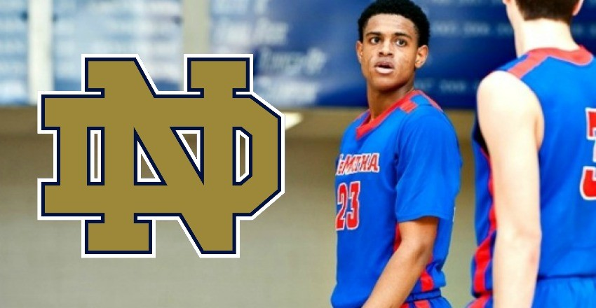 DJ Harvey makes it official as he gives his verbal commitment to Mike Brey and the Notre Dame men's basketball program.