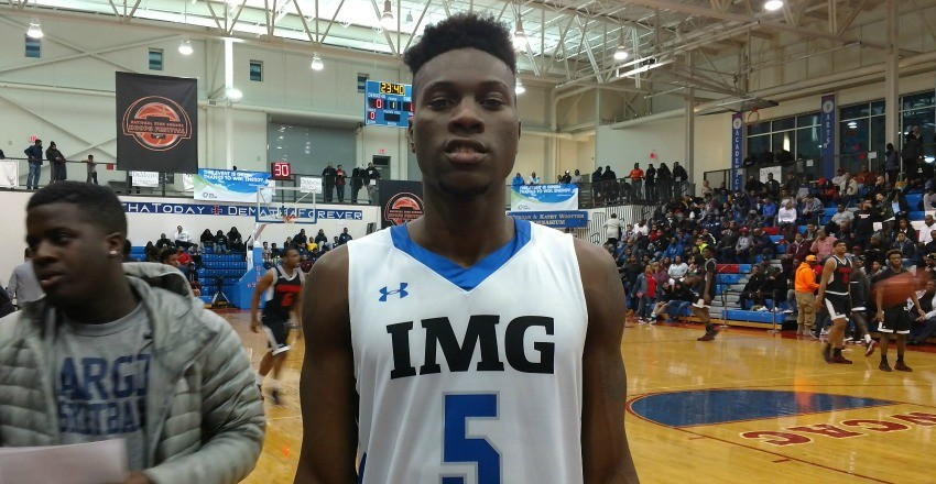 Emmitt Williams adds some skill to his already consistent, dominating mindset on the floor, all of which was on display at the National Hoops Festival.