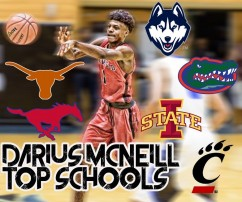 Darius McNeill announces his final six schools.